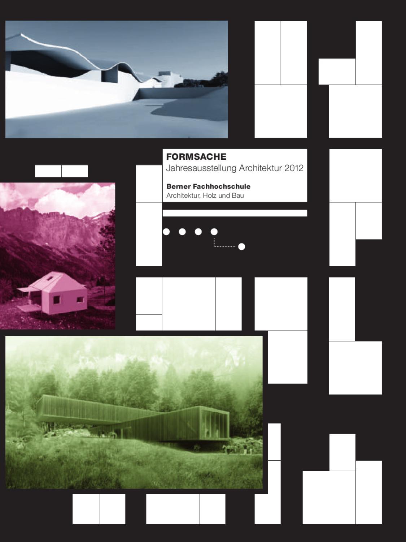 Ausstellungszeitung jahresausstellung architektur 2012 by for Fachhochschule architektur