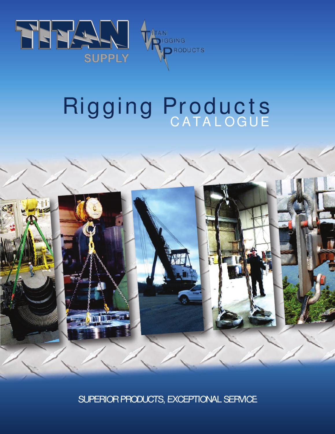 titan supply rigging products catalogue by teresa brown issuu