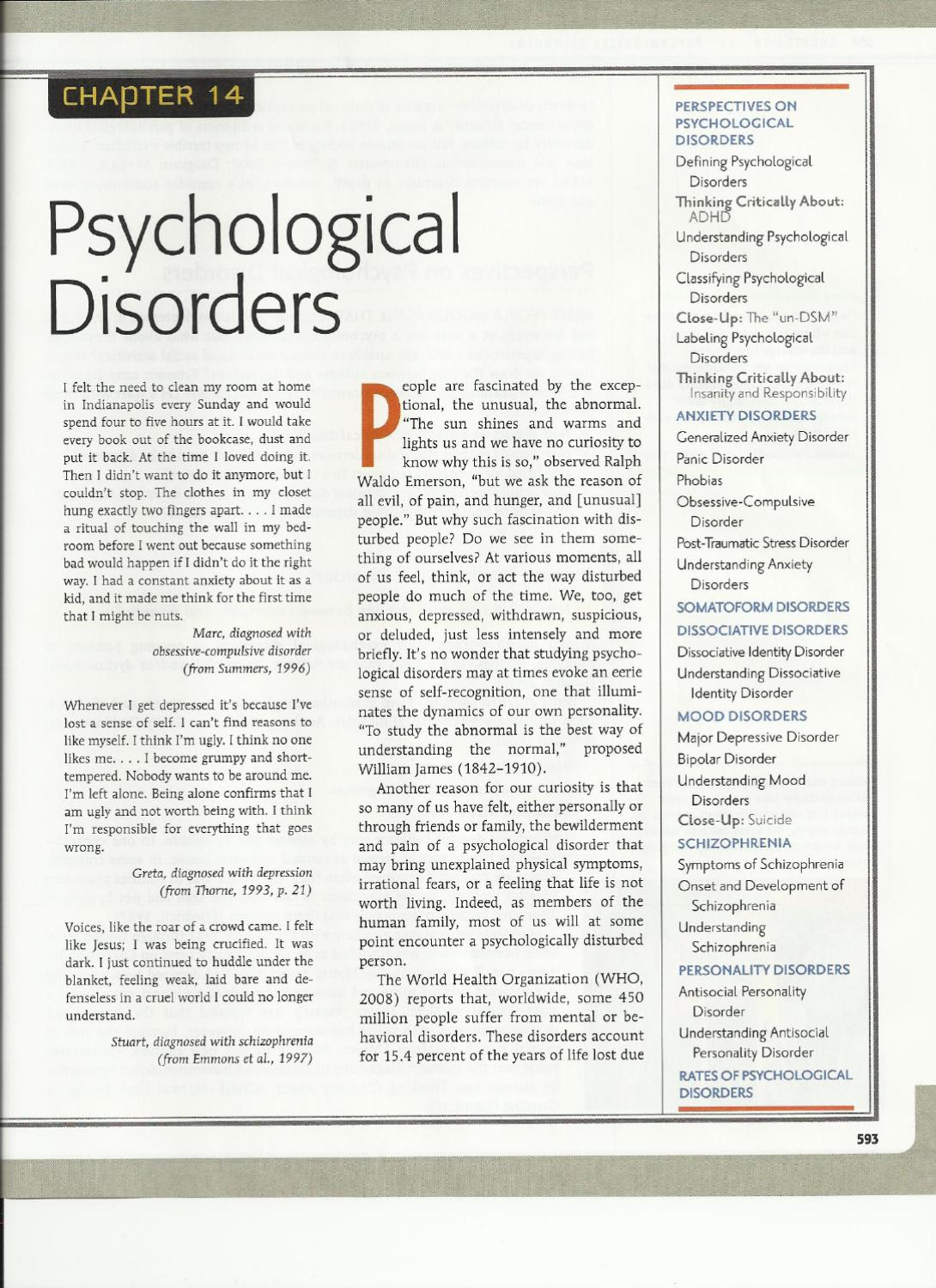 abnormal psychology and page reference Page 1 psyc 3018 – abnormal psychology unit of study code: psyc3018   set readings and additional references will be available in the first tutorial.