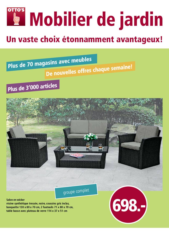 Meubles de jardin chez otto s by otto 39 s ag issuu for Otto s yverdon meubles