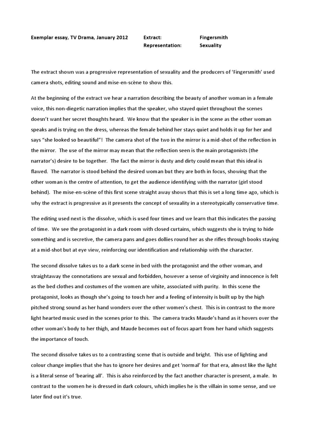 What Is Beauty Essay Fingersmith Essay By Sonia Marshall Inner  Fingersmith Essay By Sonia Marshall Comparison Contrast Essay Example Paper also Thesis Statement For Education Essay  5 Paragraph Essay Topics For High School