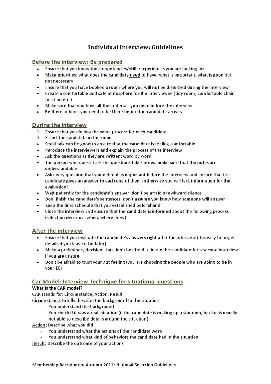 07 individual interview guidelines by aiesec norge issuu individual interview guidelines by aiesec norge issuu