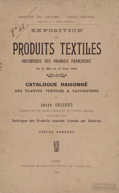 Catalogue raisonn des plantes textiles et papyrif res des for Catalogue de plantes