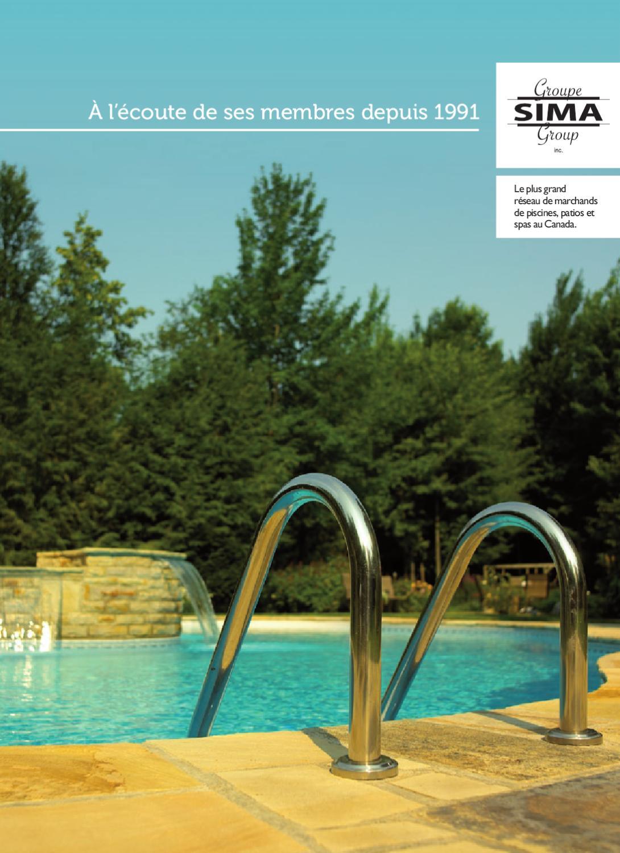 Groupe sima prospectus 2012 by groupe sima issuu for Sima piscine