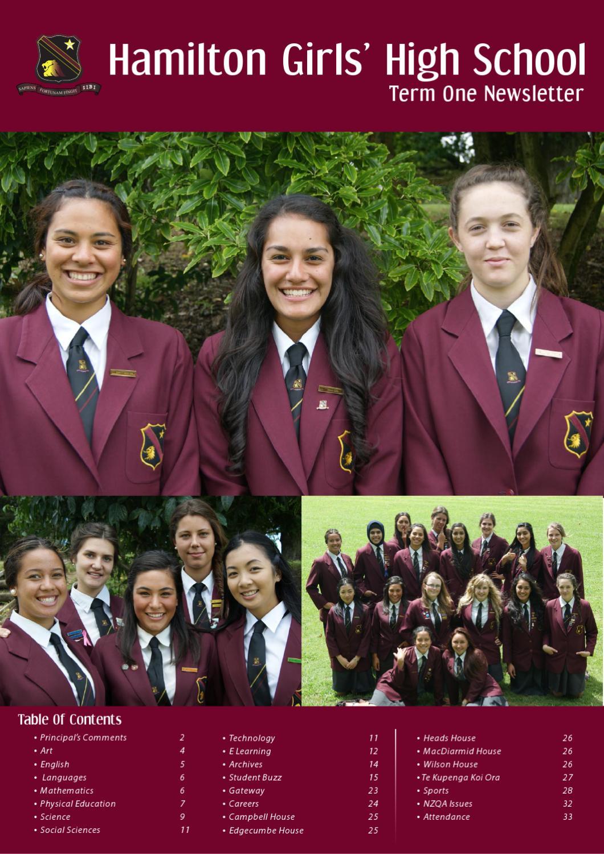 Hamilton Girls High School Term 1 Newsletter 2012 by Hamilton Girls ...