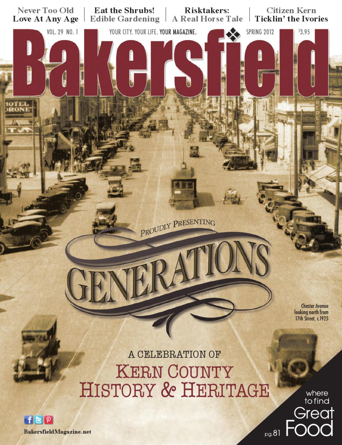 Bakersfield magazine 29 1 generations by bakersfield for Bakersfield home magazine
