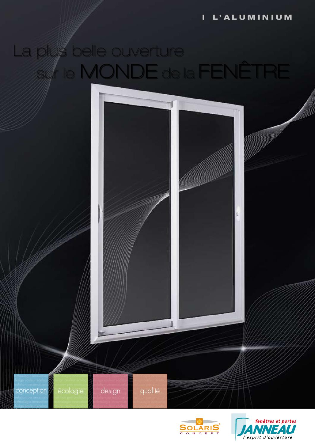 Solaris fen tres en aluminium by janneau menuiseries issuu for Fenetre solaris