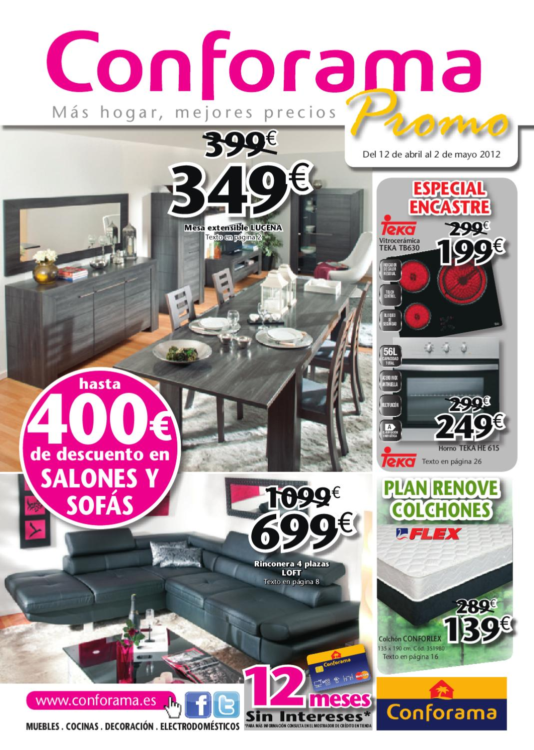 Conforama catalogo folleto hogar 1 mayo 2012 by for Page 3 salon pathankot