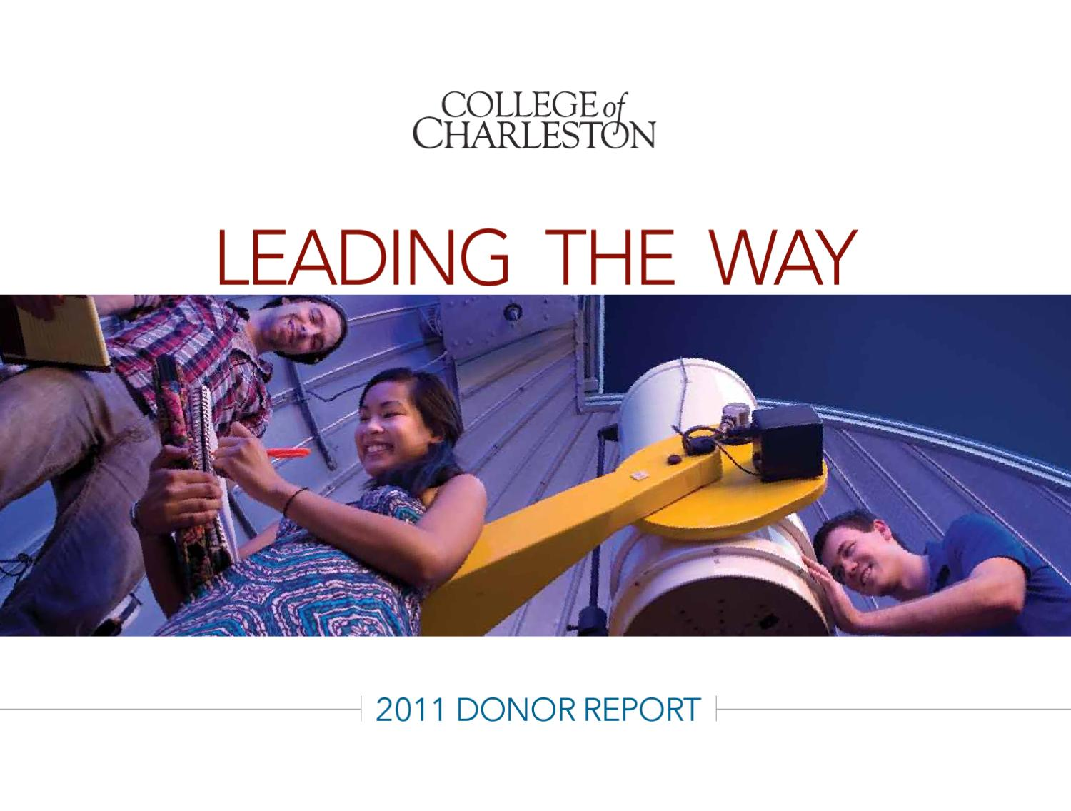 2011 donor report by college of charleston issuu