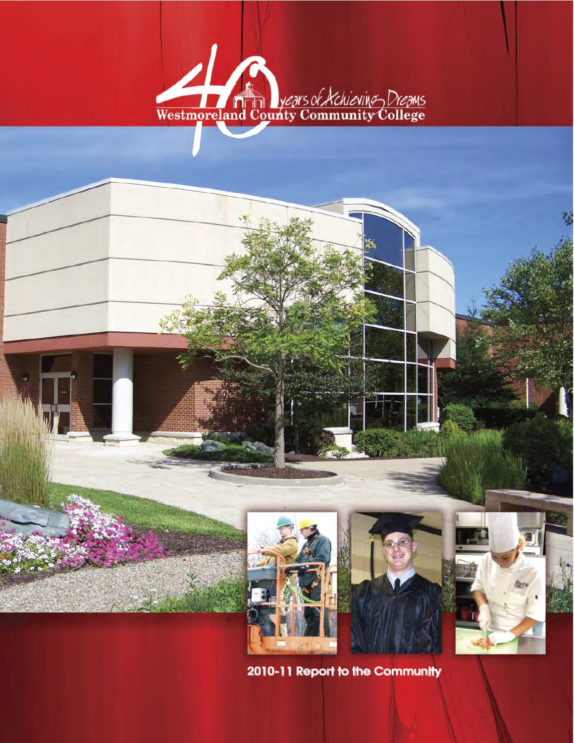 annual report by westmoreland county community college issuu annual report 2010 11