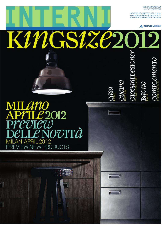 Kitchen And Bath Design Studio Issuu Interni King Size 2012 By Interni Magazine