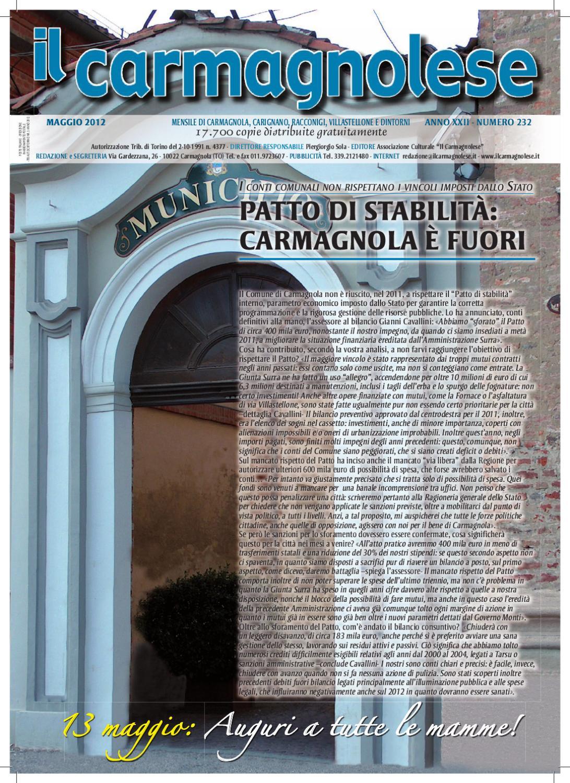 Il Carmagnolese - maggio 2012 by Redazione Il Carmagnolese - issuu