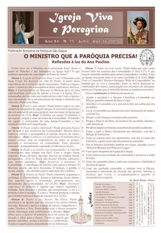 [Igreja Viva e Peregrina – Julho/Agosto 2009]