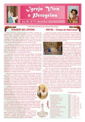 [Igreja Viva e Peregrina – Novembro/Dezembro 2009]