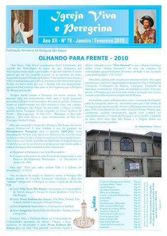 [Igreja Viva e Peregrina – Janeiro/Fevereiro 2010]
