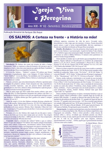 [Igreja Viva e Peregrina – Setembro/Outubro 2010]