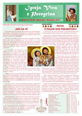 [Igreja Viva e Peregrina – Novembro/Dezembro 2011]