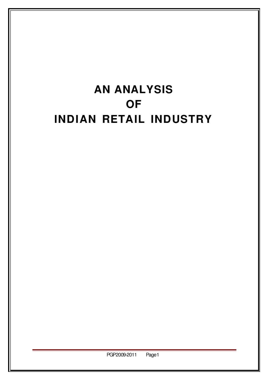 an analysis of n retail industry by sanjay gupta issuu