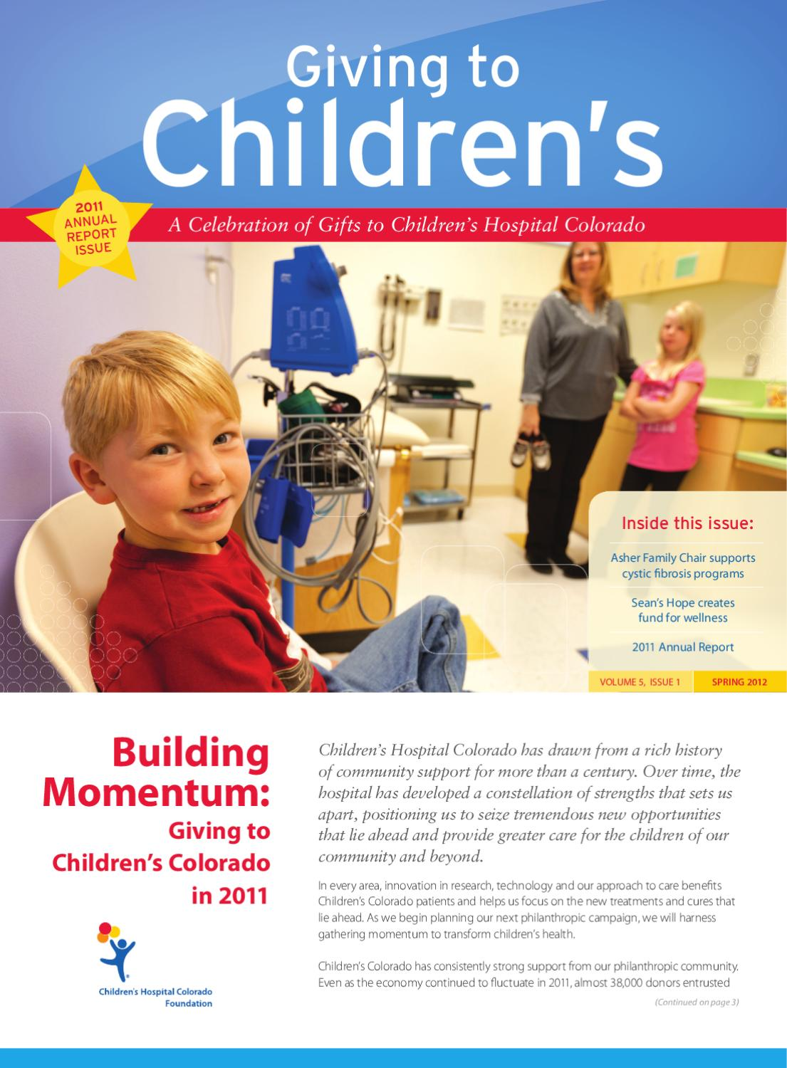 Giving to Children's Spring 2012 by Children's Hospital ...