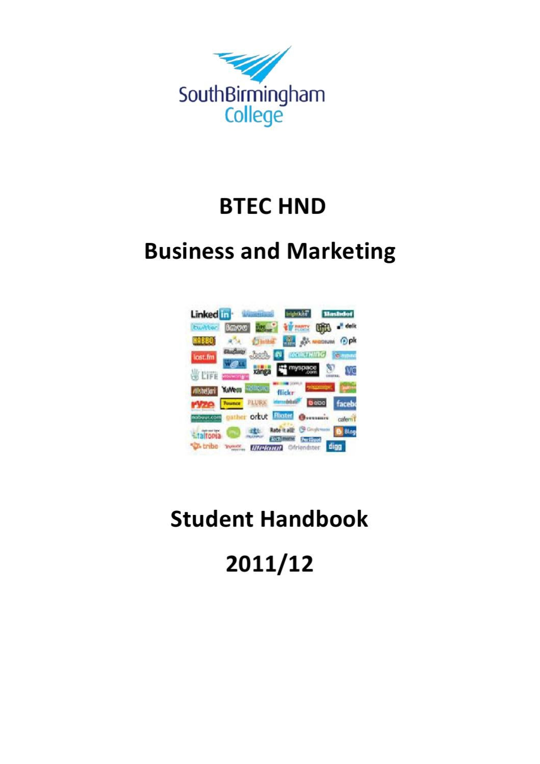 hnd in business marketing Bms offer uk degree programmes in business management and biomedical  btec hnd in business (management) btec hnd in business (marketing).