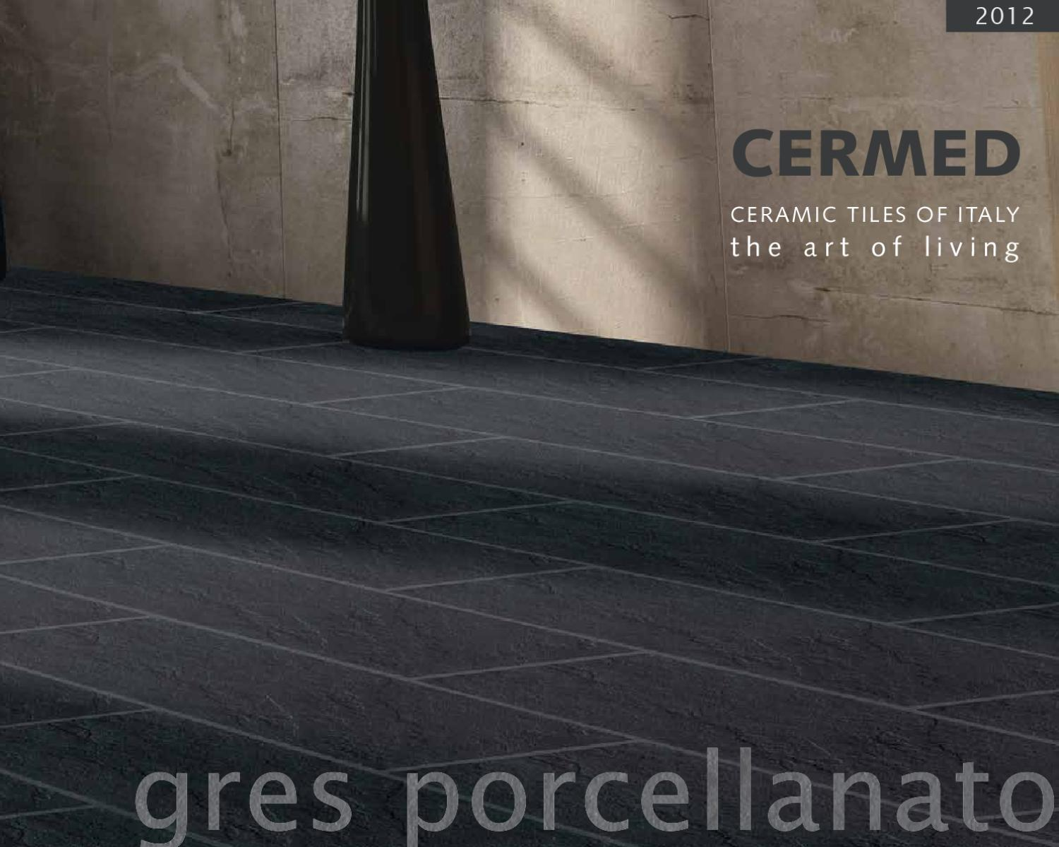 Cermed product catalog 2012 by werbelust issuu for Carrelage gres porcellanato