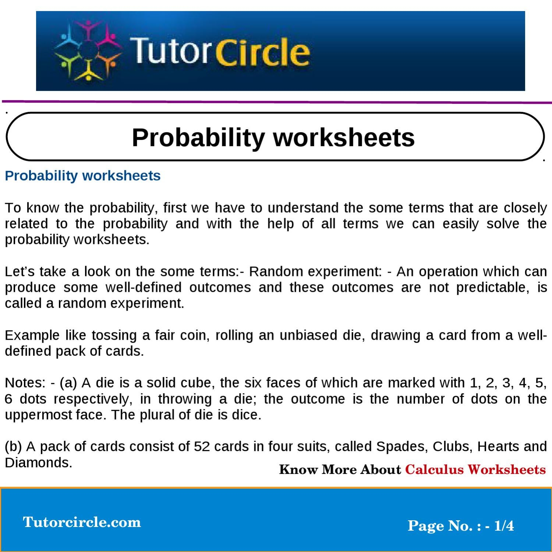 probability worksheets by tutorcircle team issuu. Black Bedroom Furniture Sets. Home Design Ideas