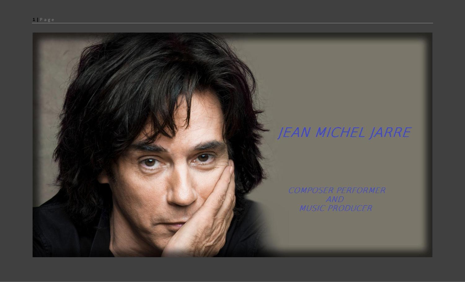 Jean Michel Jarre Composer Performer And Music Producer