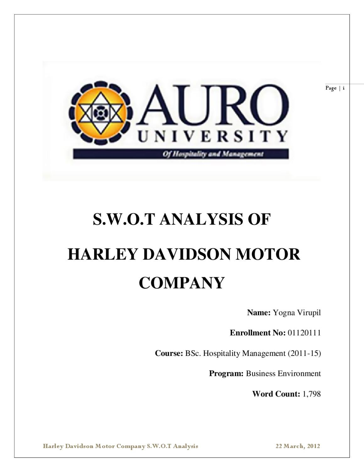 business analysis of harley davidson motor company essay Business term papers (paper 18573) on harley davidson case analysis:   disclaimer: free essays on business posted on this site were donated by  anonymous  in 1969, amf incorporated acquired harley-davidson motor  company and.