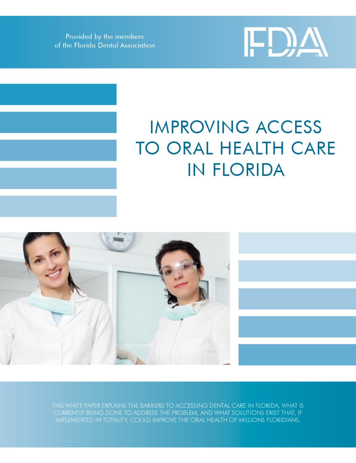 The issue of dental health and access to dental care