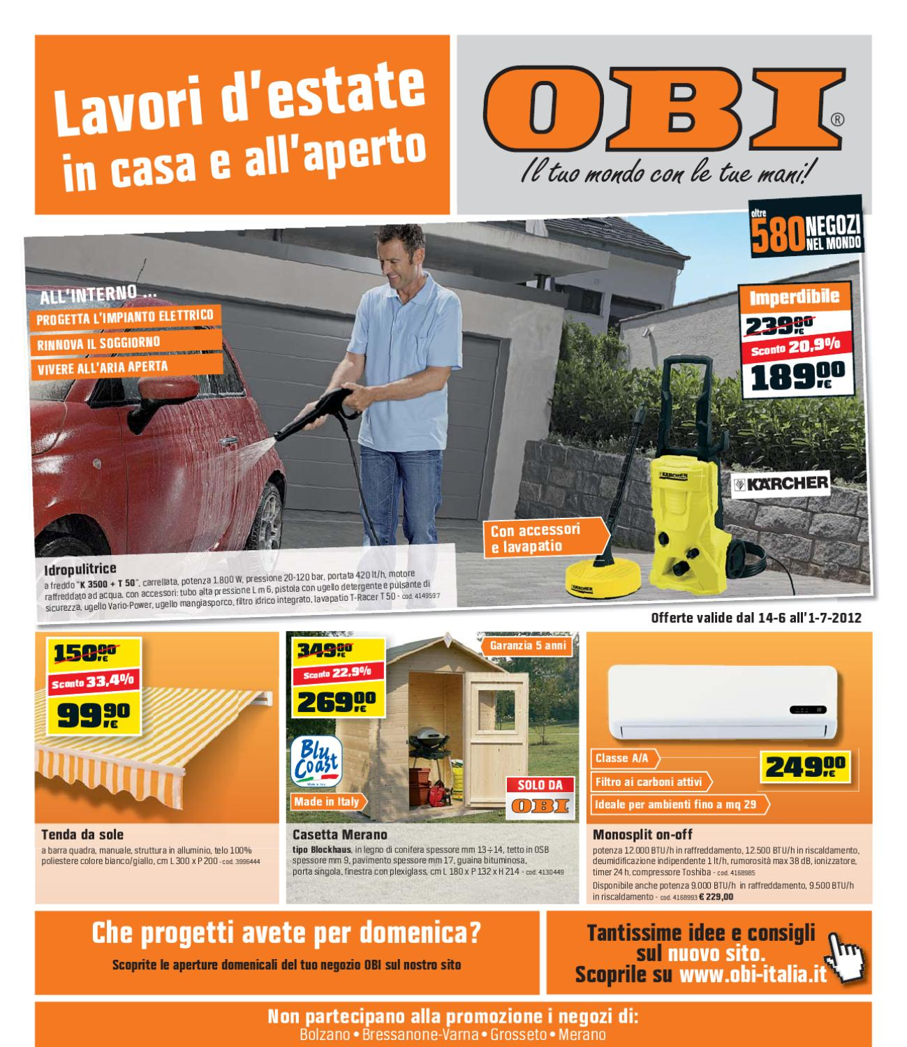 Tende da esterno obi casamia idea di immagine for Catalogo obi 2017