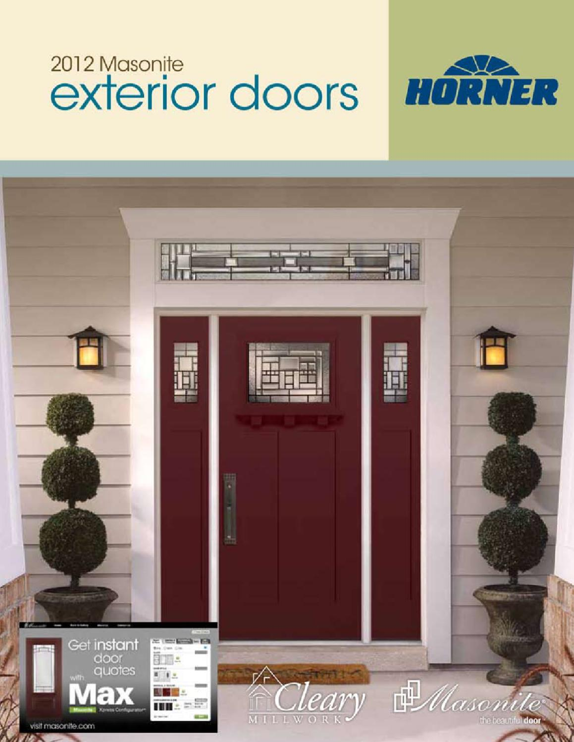 1499 #043F77 Horner Millwork Masonite Catalog By Horner Millwork Issuu wallpaper Masonite Fiberglass Exterior Doors 43651159