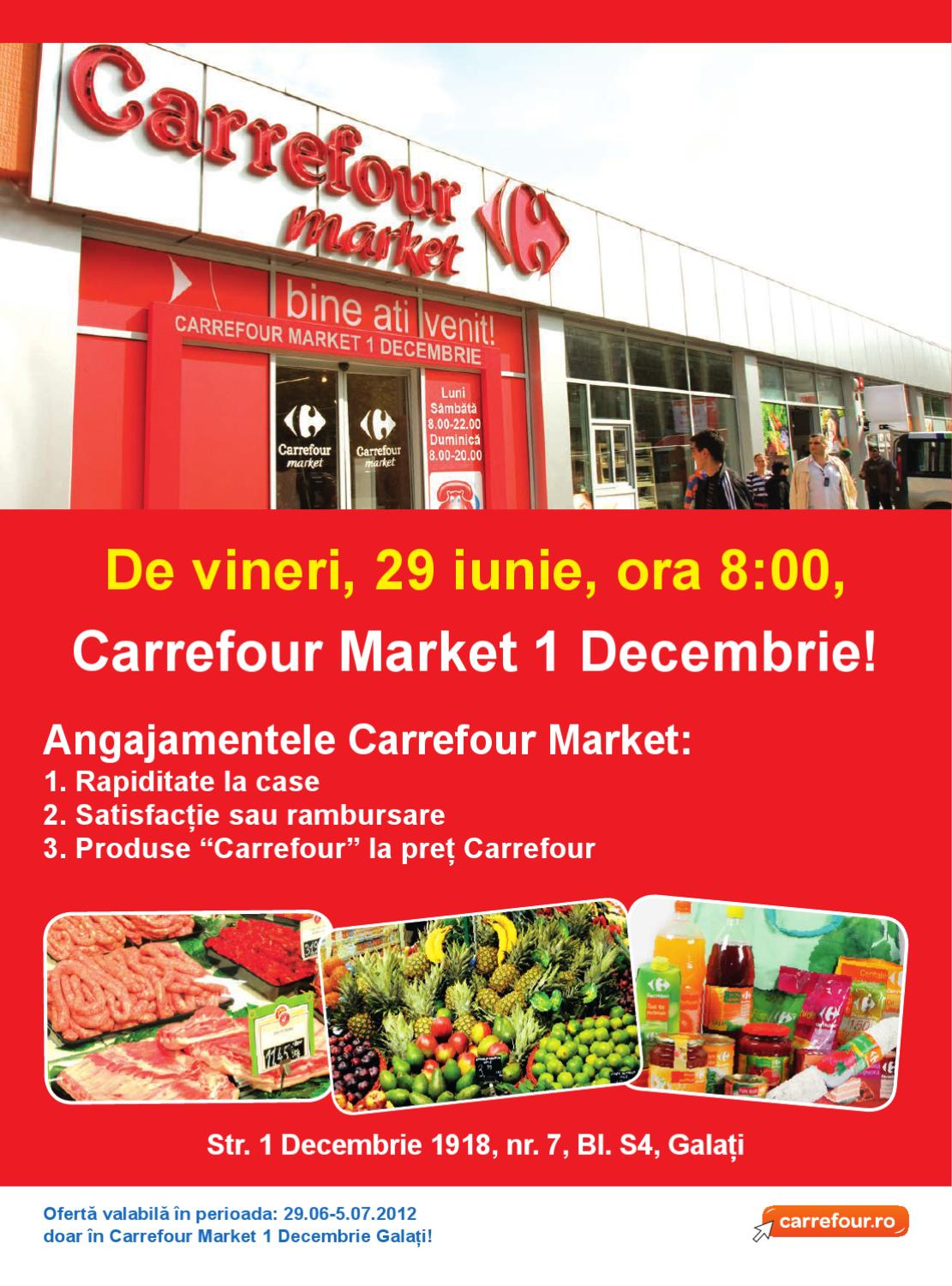 catalog lansare supermarket carrefour market 1 decembrie galati by carrefour romania issuu