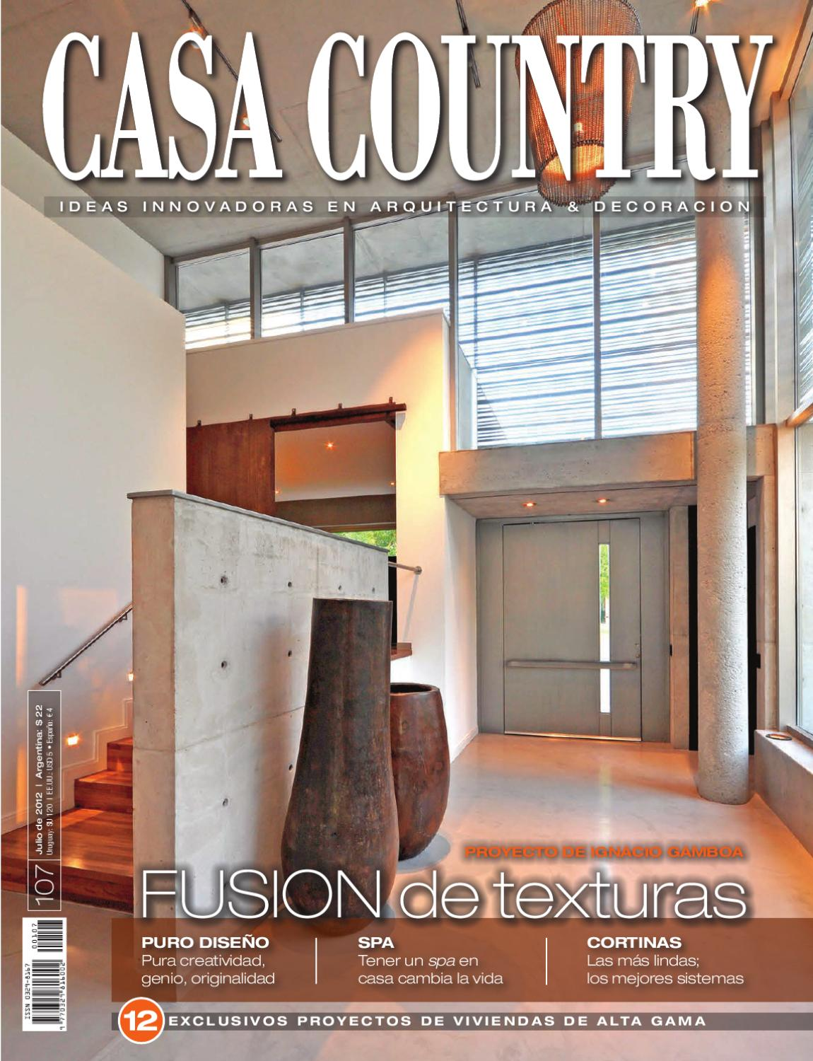 Casa country 107 julio 2012 by martin jaunarena issuu for Tipos de cielorrasos para casas