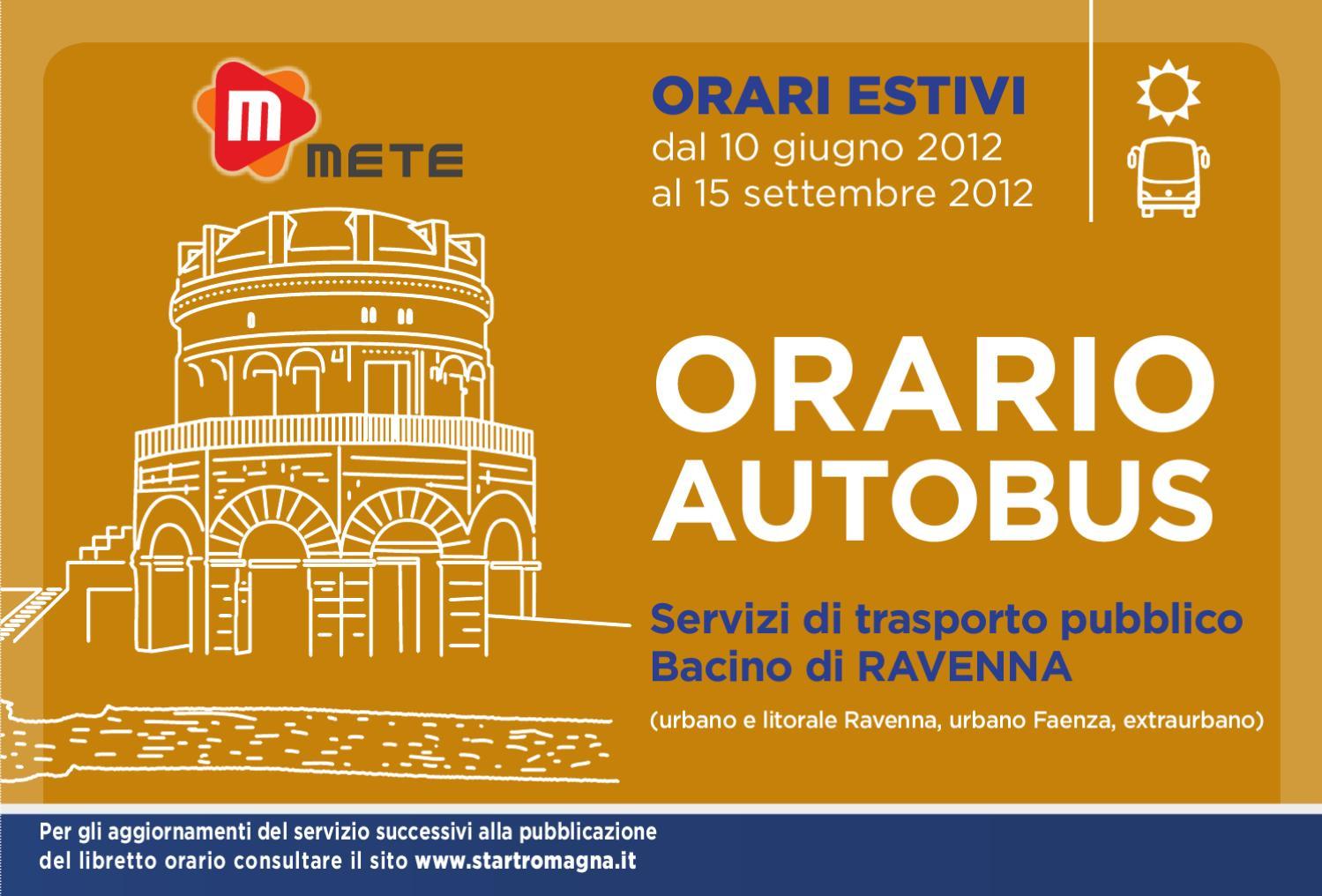 Start romagna libretto orari ravenna 2012 estivo by publione s r l issuu - Orari bus cesena bagno di romagna ...