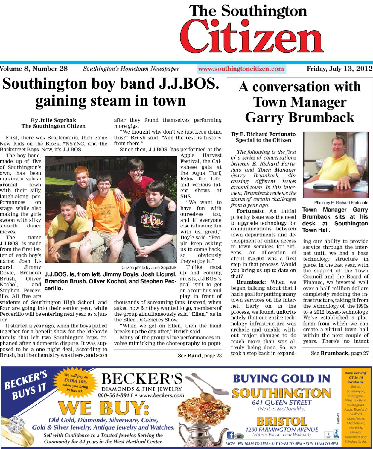 04 05 2013 The Southington Citizen By Dan Champagne Issuu