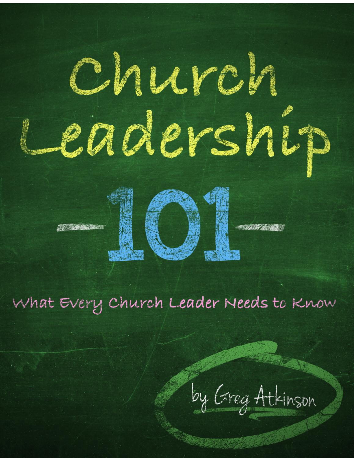 the leadership of the church