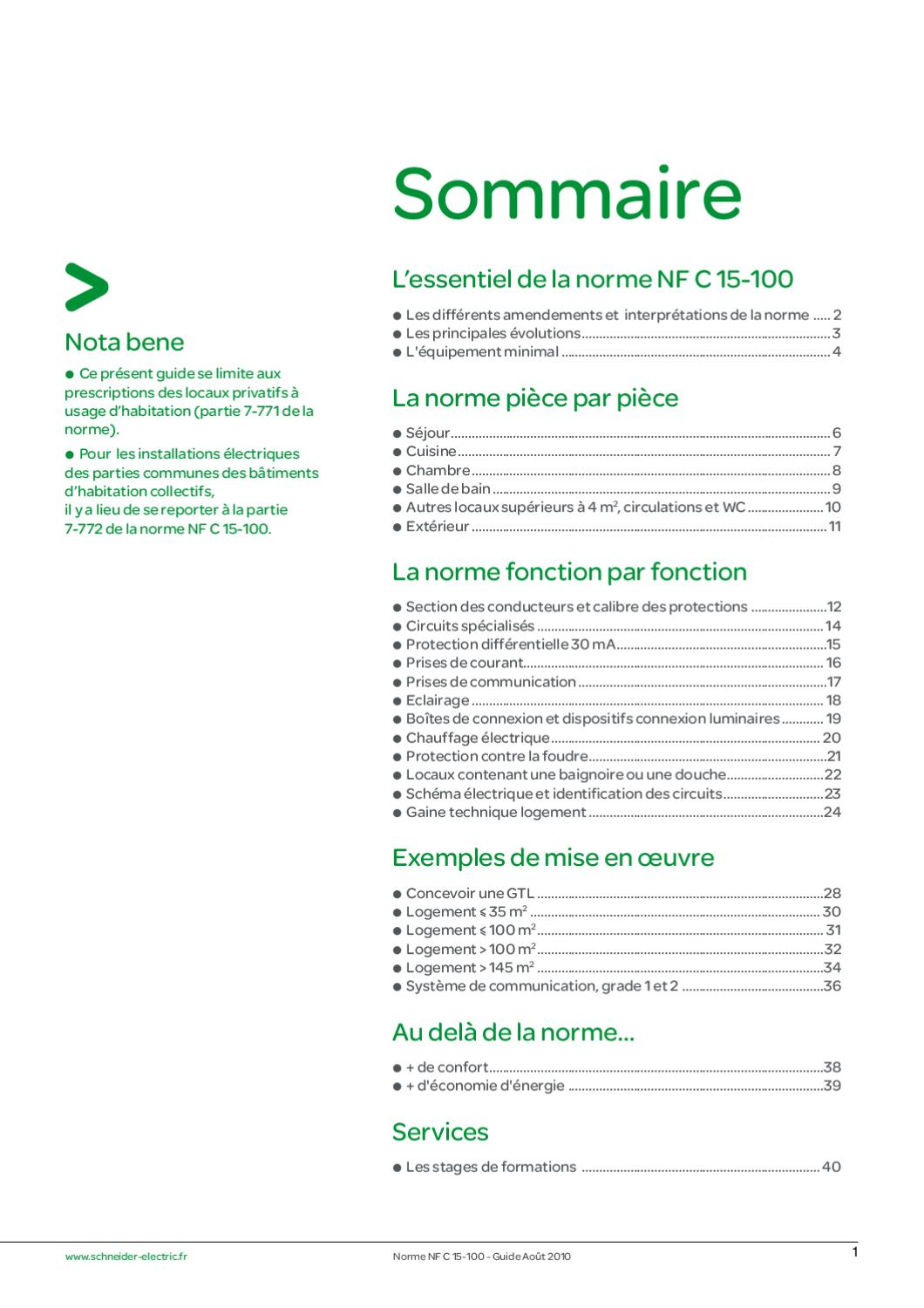 guide nfc 15 100 by schneider electric issuu. Black Bedroom Furniture Sets. Home Design Ideas