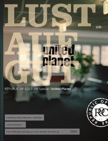 LUST AUF GUT Magazin   Special United Planet