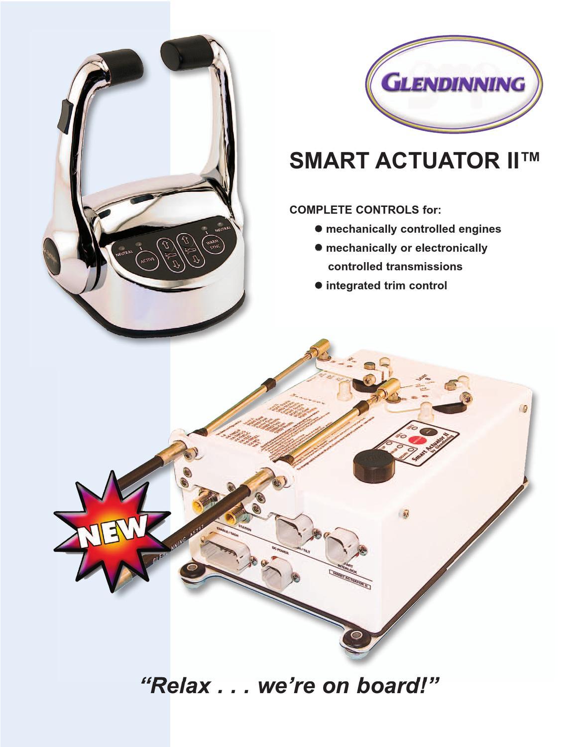 smart actuator ii by glendinning marine. Black Bedroom Furniture Sets. Home Design Ideas