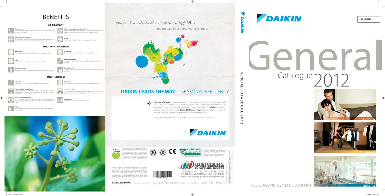 daikin general catalogue 2012 by nikos psarakis issuu. Black Bedroom Furniture Sets. Home Design Ideas