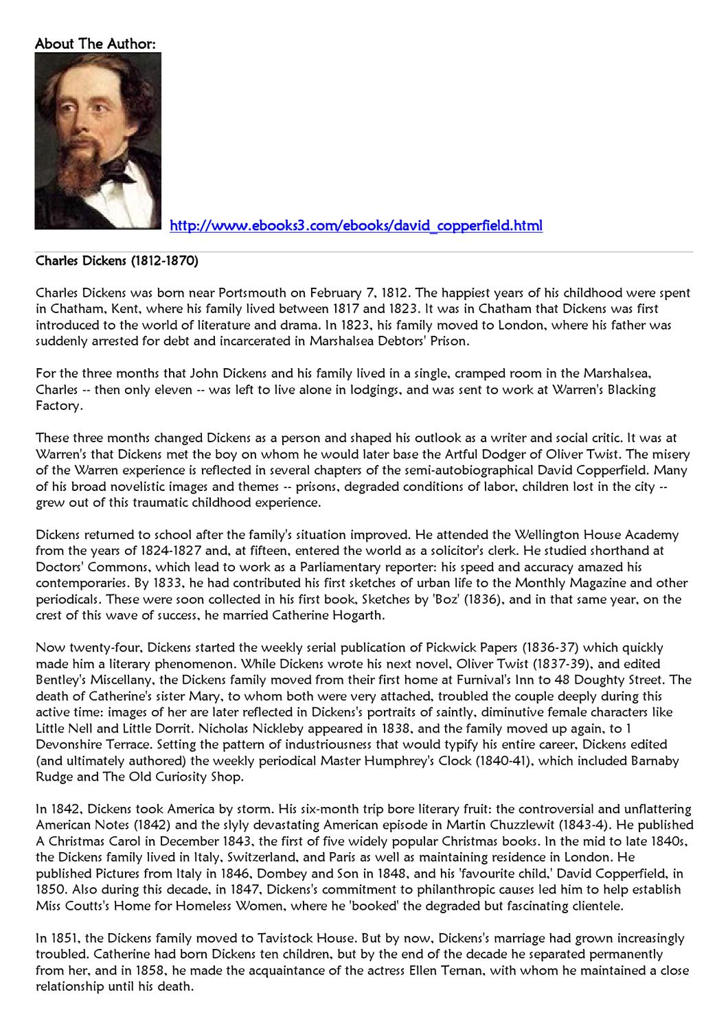 david copperfield very short summary review of david copperfield  david copperfield by tjasa milijas issuu