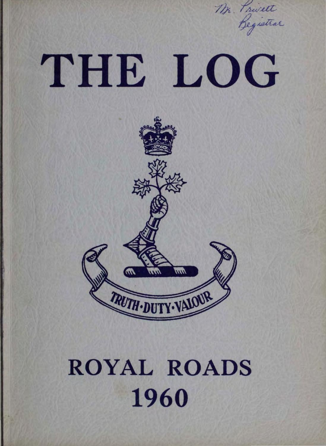 1960 Log Canadian Services College Royal Roads by Royal ...