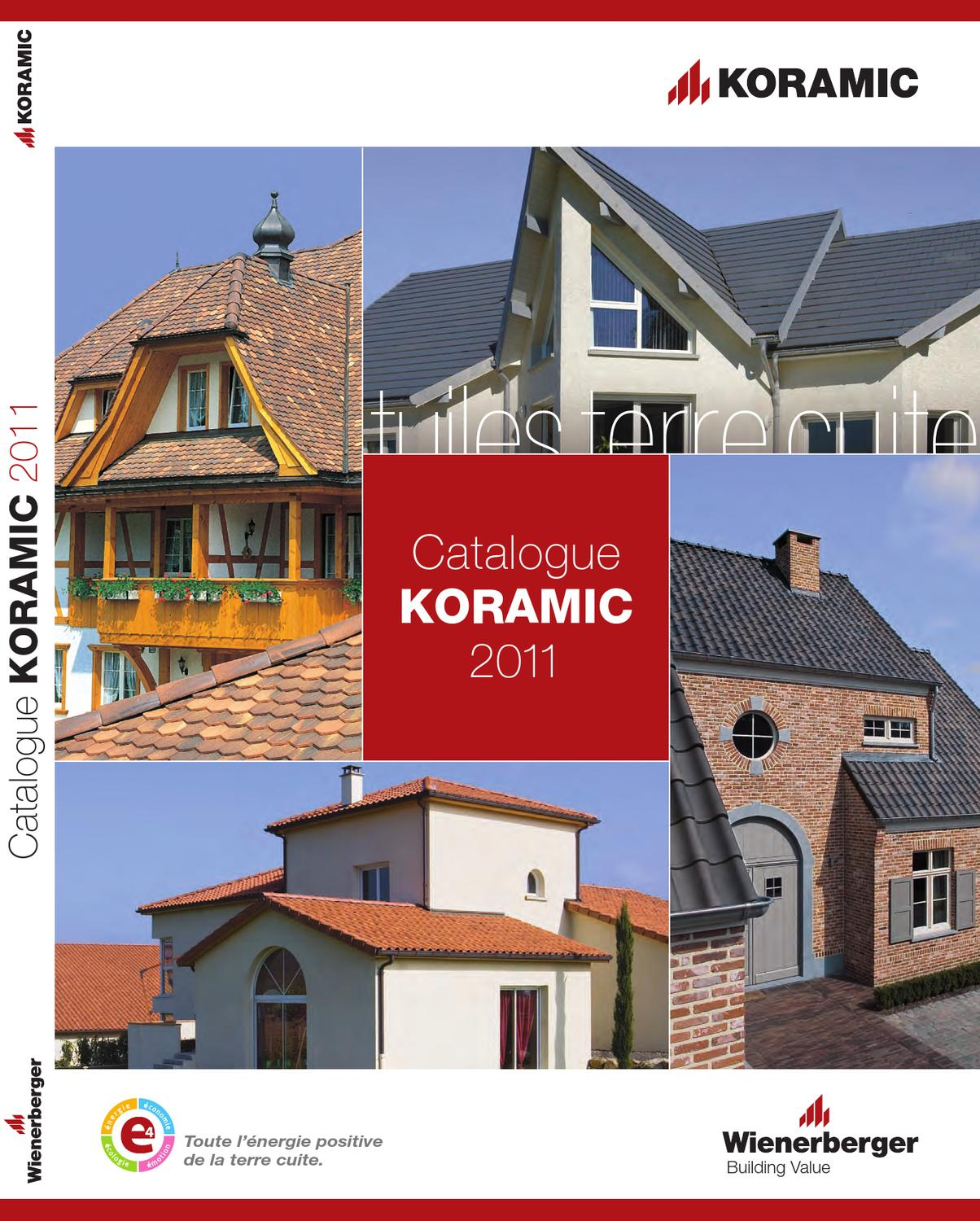 catalogue g n ral koramic by wienerberger ag issuu. Black Bedroom Furniture Sets. Home Design Ideas