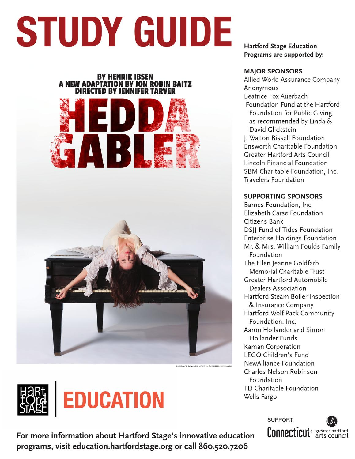 study guide hedda gabler by hartford stage