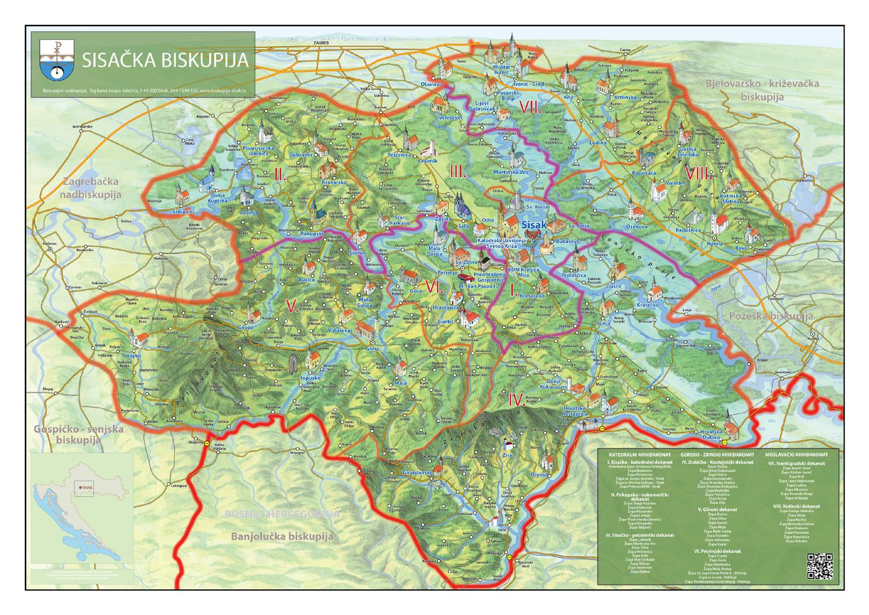 Karta Sisačke biskupije by Sisačka biskupija - issuu