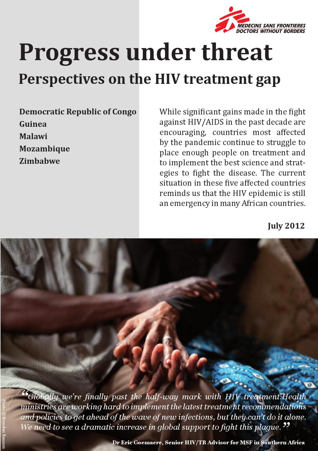 Progress under threat: Perspectives on the HIV treatment ...