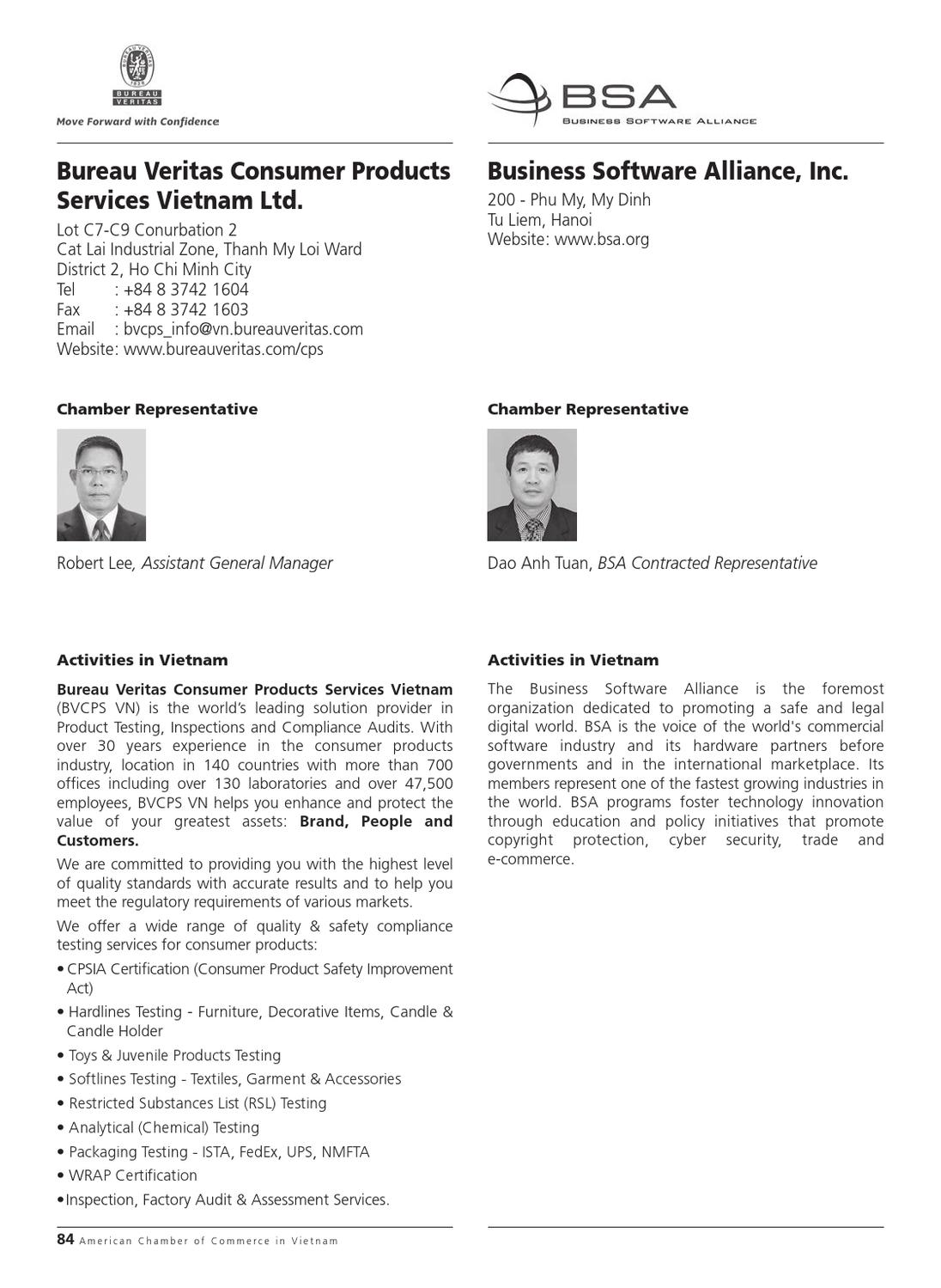 Amcham vietnam in hcmc membership directory 2012 by minh le page 86 issuu - Bureau veritas industrial services ...