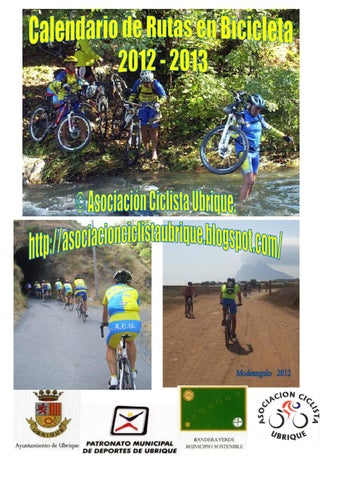 Calendario de rutas en bicicleta 2012-2013