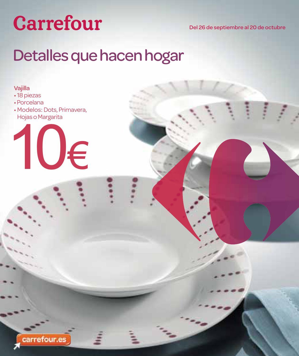 Catalogo carrefour electrodomesticos y menaje by for Catalogo de vajillas