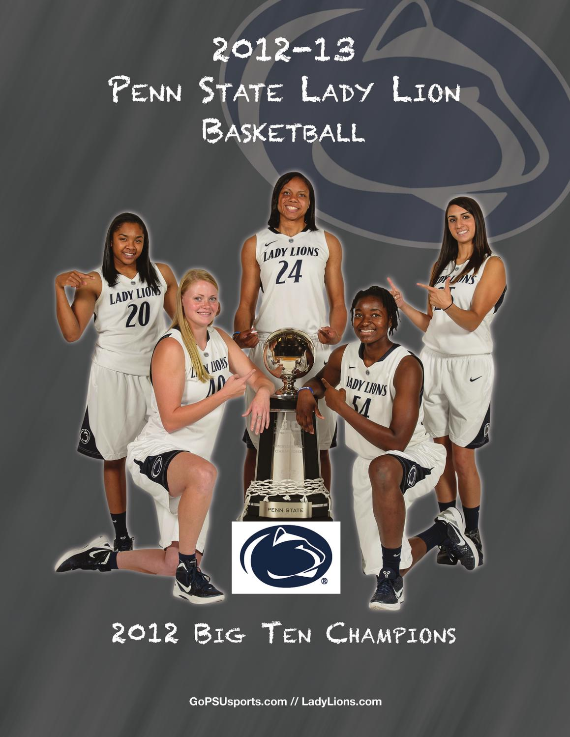 2012-13 Penn State Lady Lion Basketball Yearbook by Penn State ...